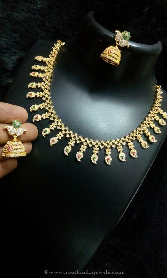 Imitation Stone Mango Necklace Set