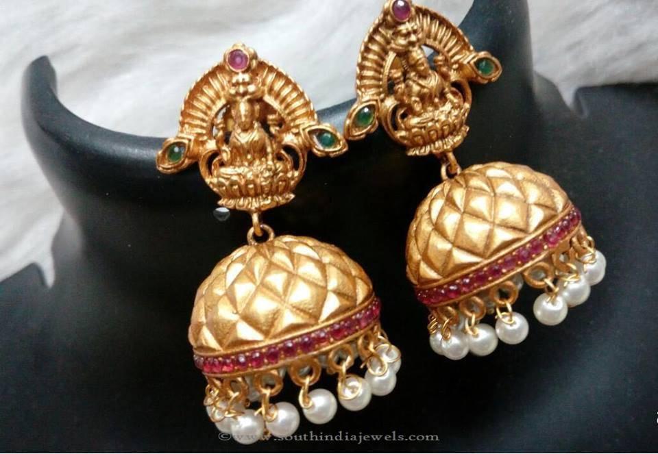Temple Jhumka Earrings