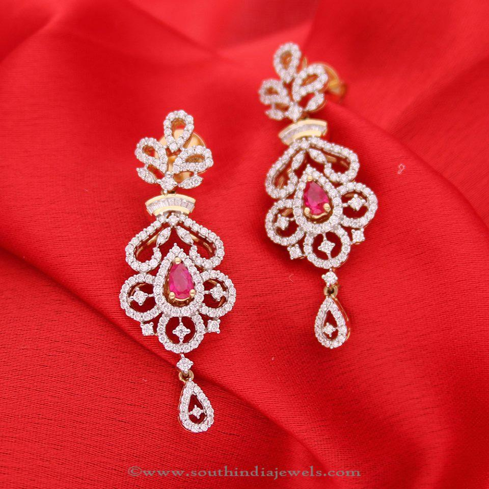 Latest Model Diamond Earrings from Manubhai