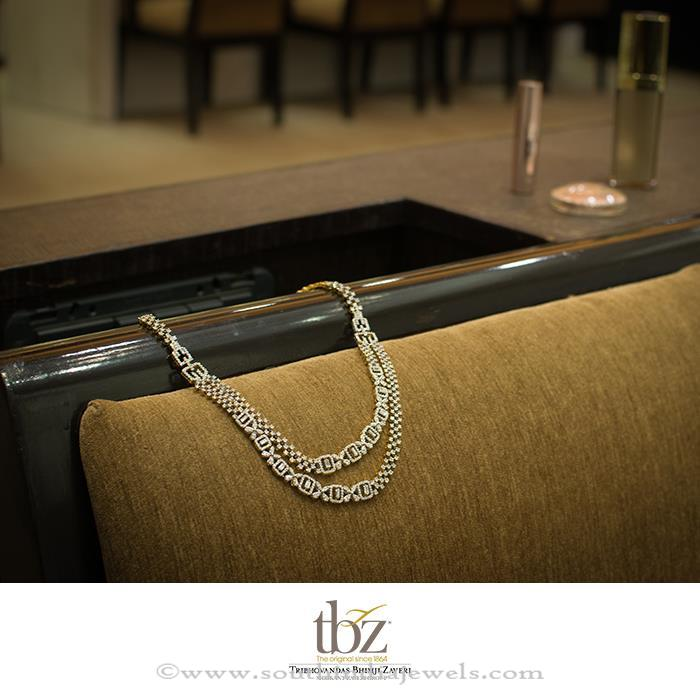Layered Diamond Necklace TBZ South India Jewels