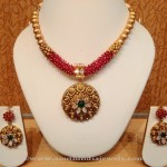 Light Weight Designer Gold Necklace Set from NAJ