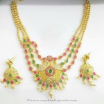 Gold Plated Multi Layer Stone Necklace