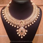 Uncut Diamond and Emerald Necklace