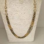 1 Gm Gold Black Bead Chain