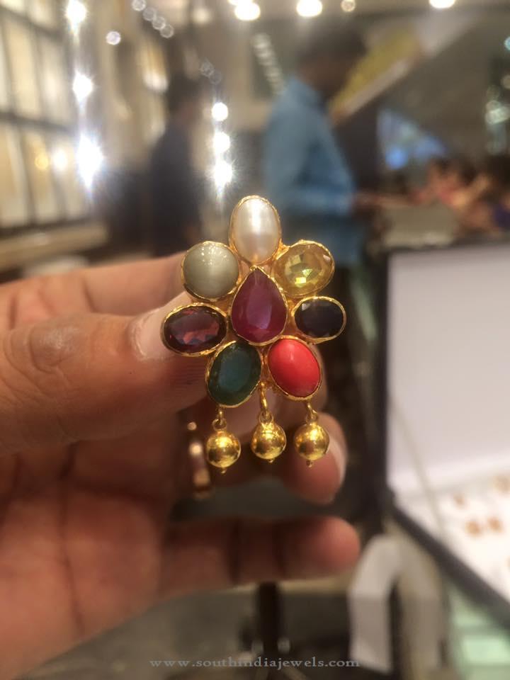 18 Grams Gold Navarathan Stud from PSJ
