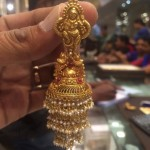 22K Gold Big Layered Jhumki