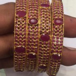 22K Gold Ruby Bangles from PSJ