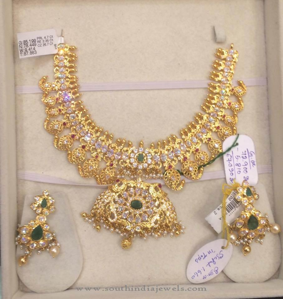 78 Grams Gold Mango Necklace Set South India Jewels,Srilankan Bathroom Designs Photos