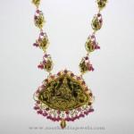 Antique Gold Lakshmi Haram from Karpagam Jewellers