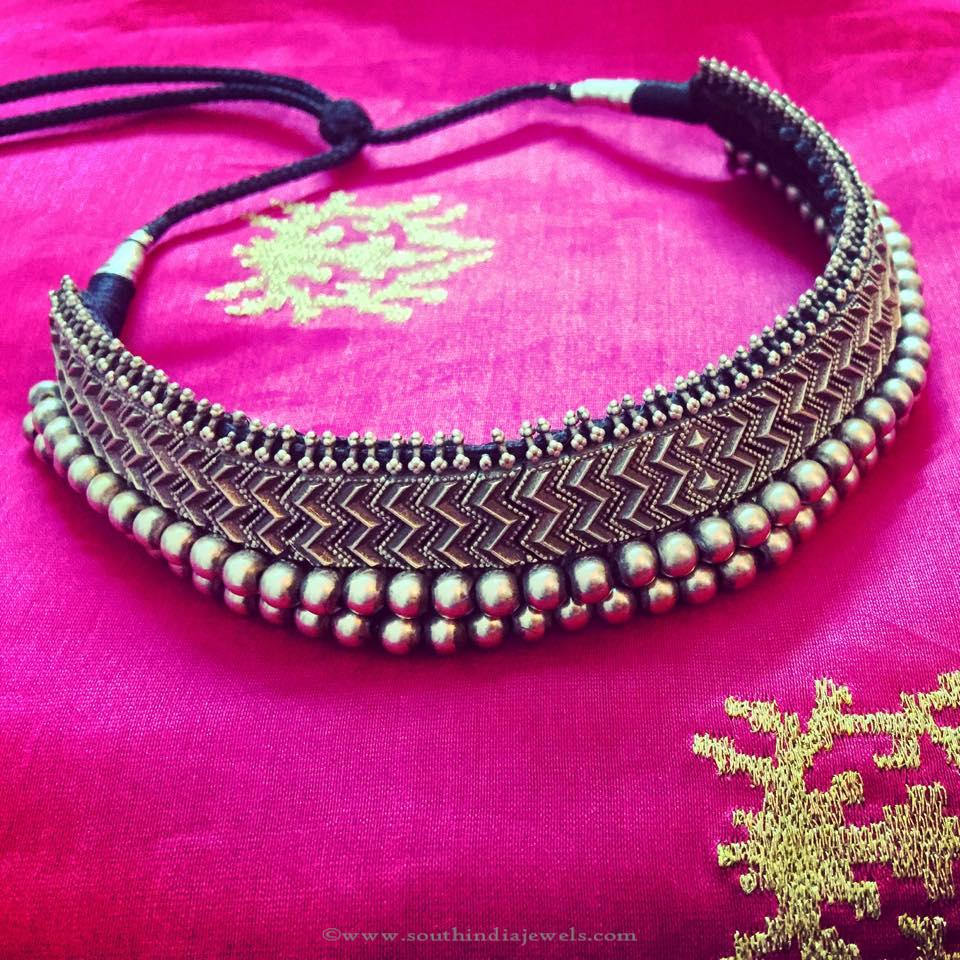 Antique Silver Choker Necklace