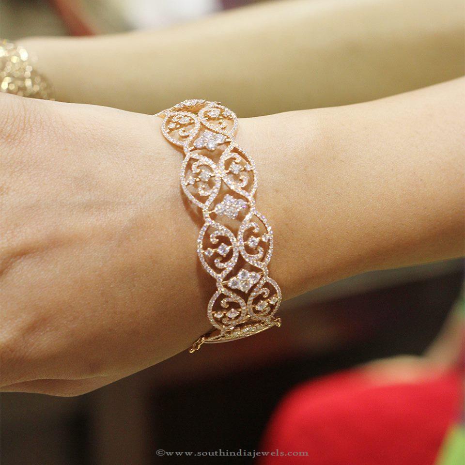Beautiful Diamond Bangle From Manubhai