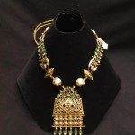 Designer Gold Kundan Necklace from PSJ