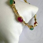 Diamond Bangles with Rubies and Emeralds