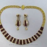 Diamond Necklace with Garnets