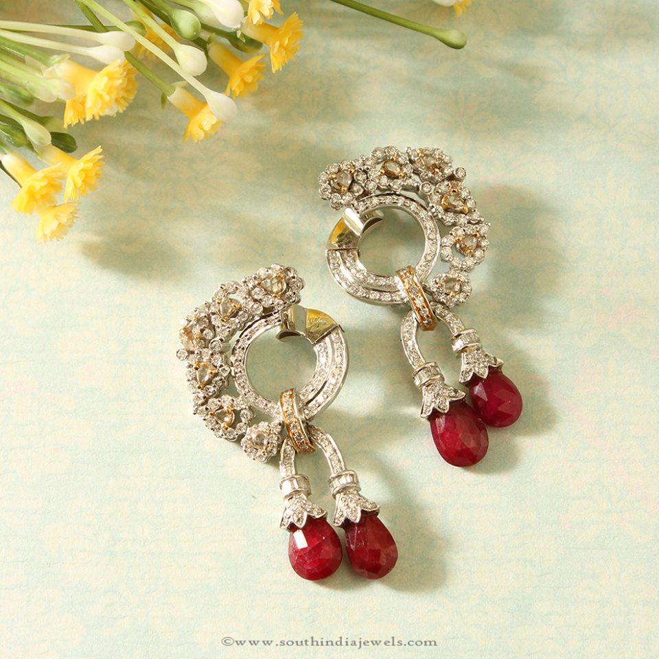 Fancy Diamond Ear Stud from Manubhai