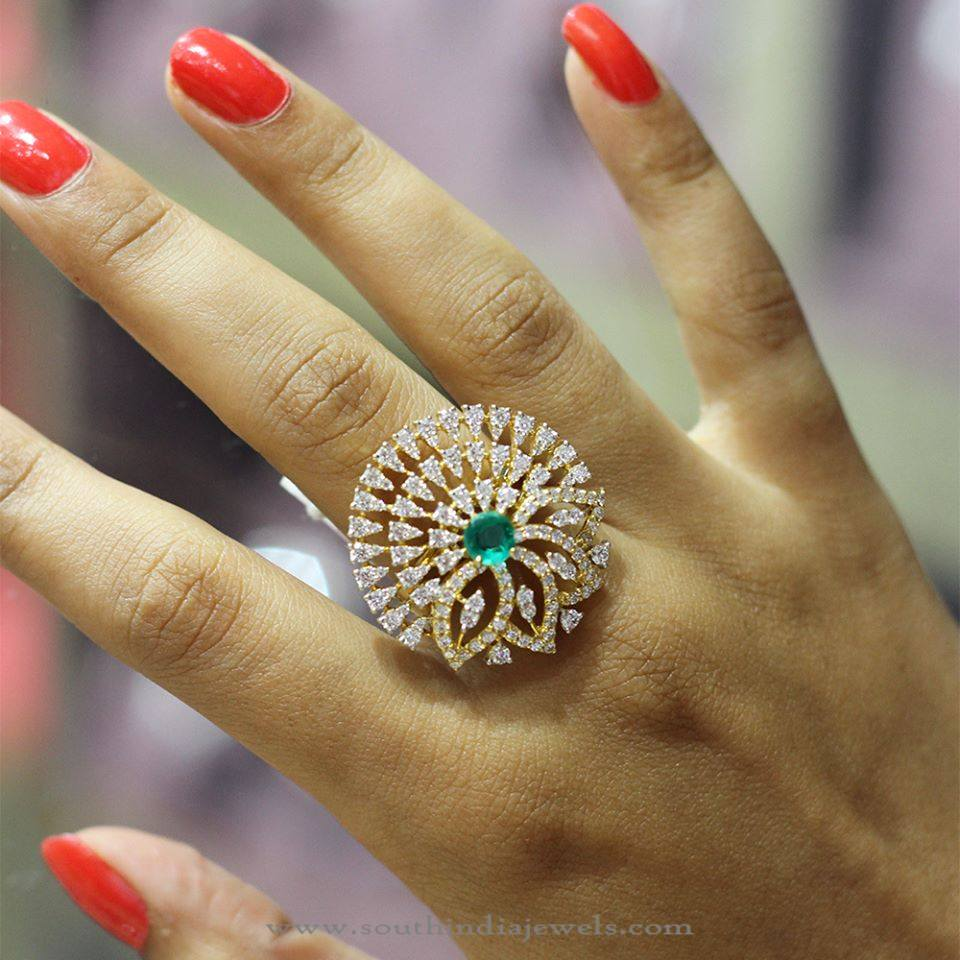 Gold Emerald Ring From Manubhai