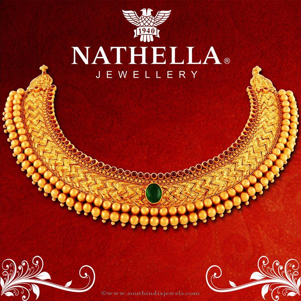 Gold Antique Choker Necklace from Nathella