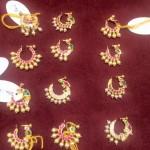 Gold Hyderabadi Bridal Nose Pins