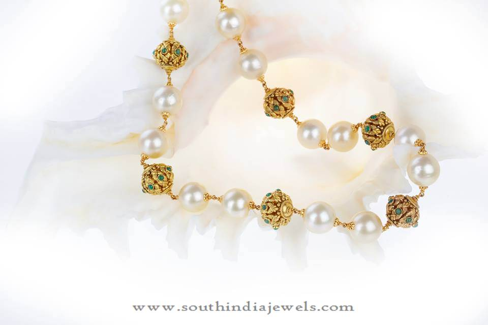 Gold Chain with Souh Sea Pearls