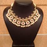 Gold Designer Kundan Necklace From NAJ