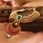 Gold Kundan Gemstone Necklace