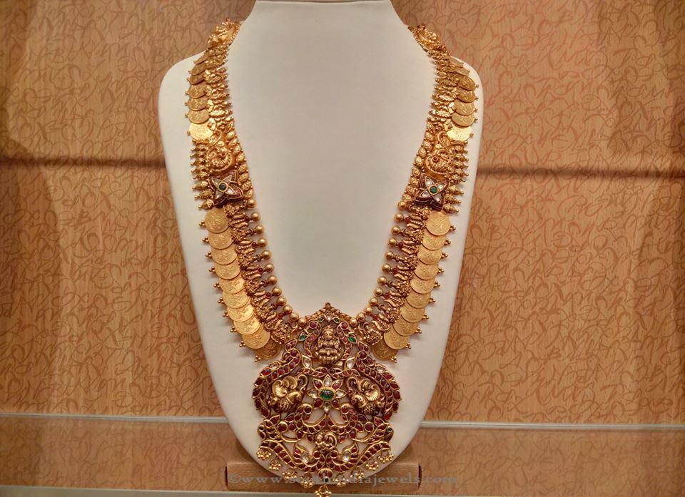Gold Antique Lakshmi Kasumalai from NAJ