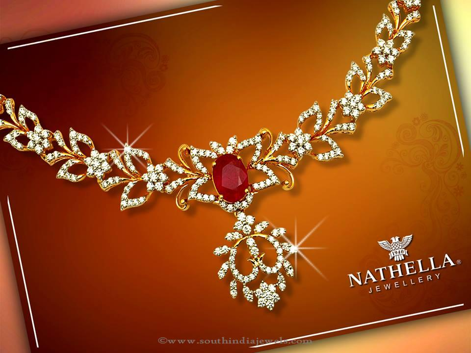 Gold Necklace Design from Nathella