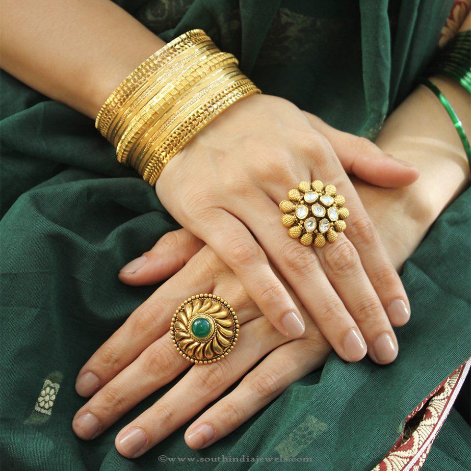 Latest Model Gold Designer Rings From Manubhai
