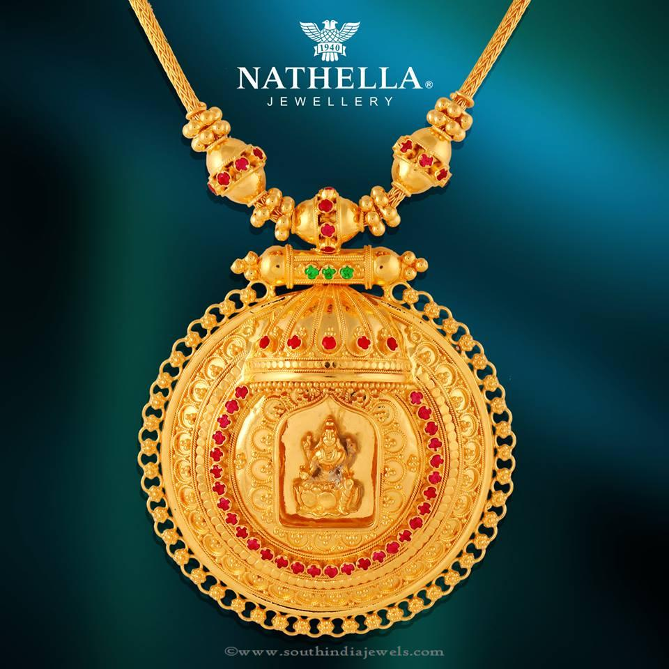 Gold Temple Necklace From Nathella
