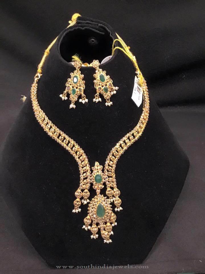 Latest Model Designer Emerald Necklace