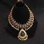 Grand Latest Model Ruby Emerald Necklace with Pearls