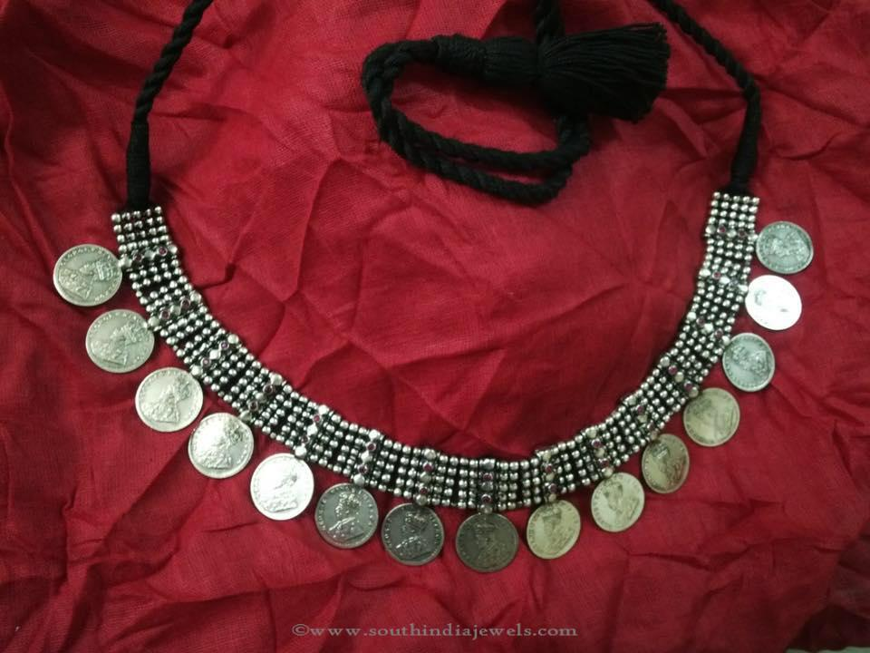 Silver Coin Necklace Design From Elegance