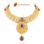 22 Carat Antique Gold Necklace from Thangamayil Jewellery