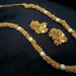 Clustered Pearl Chain Necklace from Temple Collections