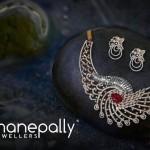 Designer Diamond Choker With Earrings from Manepally
