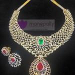Designer Diamond Necklace from Manepally Jewellery