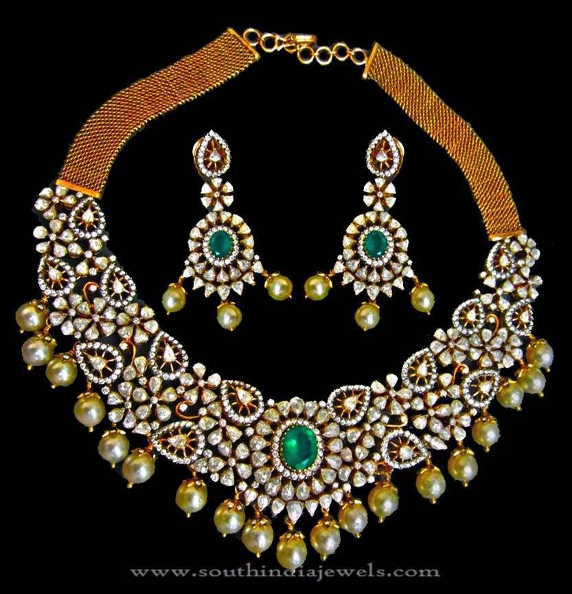 Diamond Necklae Set from Karni Jewellers
