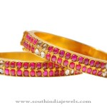 Diamond Ruby Bangle From Karni Jewellers