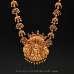 Gold Necklace with Lakshmi Pendant from DAR Jewellery