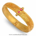 22K Gold Adjustable Antique Bangle