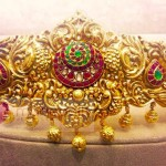 Gold Antique Vadanam from Manepally Jewellery