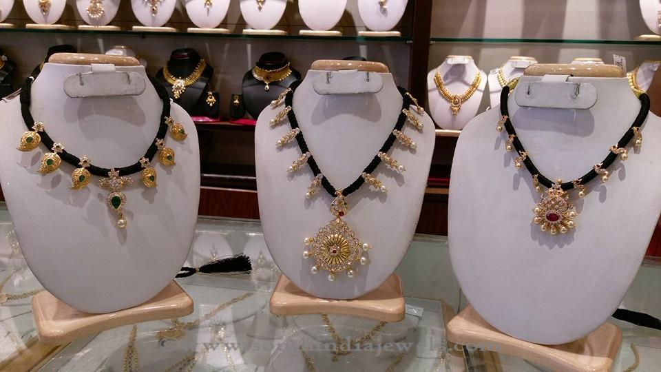 3 Stunning Gold Black Thread Necklace Designs