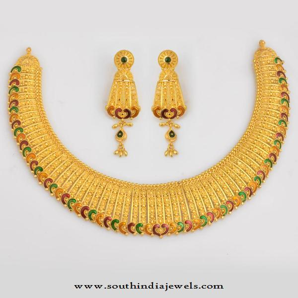 Gold Bridal Necklace Design from WHPS