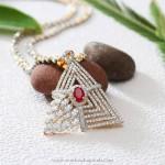 Designer Diamond Pendant from Manubhai Jewellers