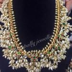 Gold Guttapusalu Necklace from Manepally Jewellers