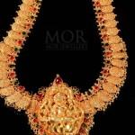 Gold Lakshmi Haram From Mor Jewellers