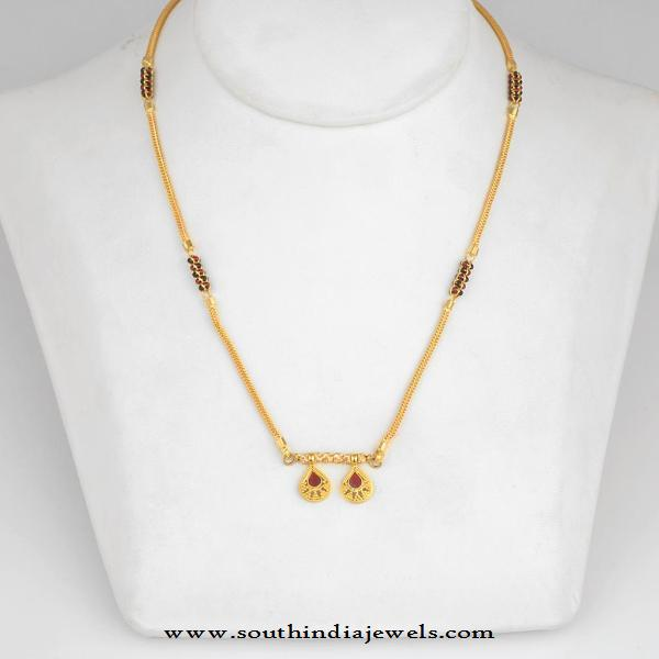 Gold Mangalsutra Designs from WHPS