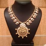 22K Gold Stone Mango Mala Necklace