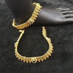 Gold Plated Anklet from Temple Collections
