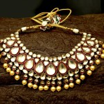 Gold Plated Bridal Kundan Choker from Aatman